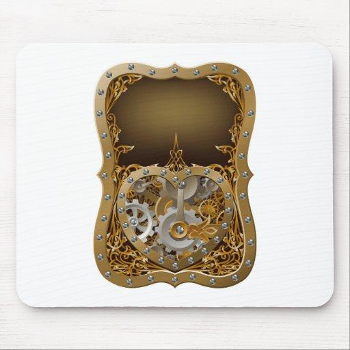 Machine clockwork gears heart concept mousepads