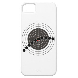 Machine gun bullet holes over shooting target barely there iPhone 5 case