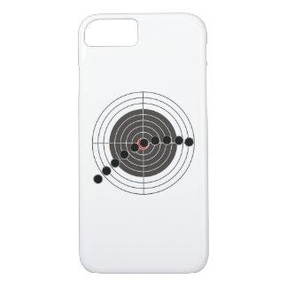 Machine gun bullet holes over shooting target iPhone 7 case