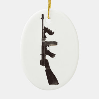 Machine Gun Christmas Ornament