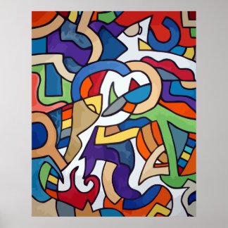 machine of harmony painting poster