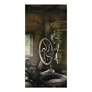 Machine Shop - An old drill press Photo Card Template