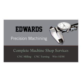 Machine Shop Business Card Templates