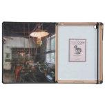 Machine Shop With Lantern iPad Cover