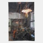 Machine Shop With Lantern Towel