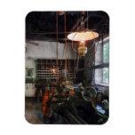 Machine Shop With Lantern Vinyl Magnets