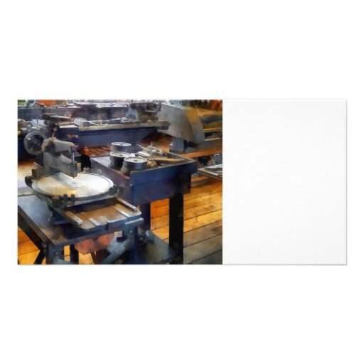 Machine Shop With Punch Press Photo Greeting Card