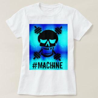 Machine Skull Barbell Blue T-Shirt
