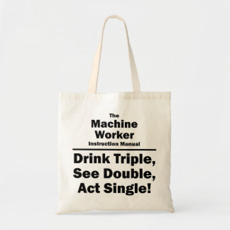 machine worker budget tote bag