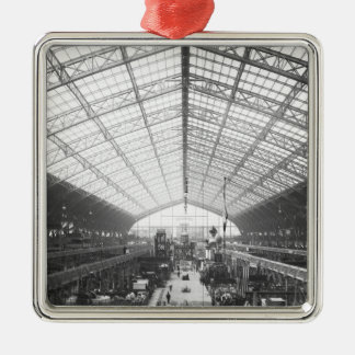 Machinery Hall, Universal Exhibition Silver-Colored Square Decoration