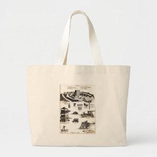 Machines of War and Castle Diagram Jumbo Tote Bag
