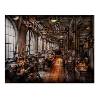 Machinist - A fully functioning machine shop Postcard