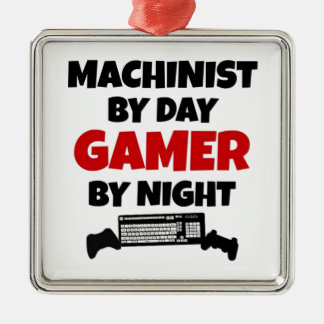 Machinist by Day Gamer by Night Christmas Ornament