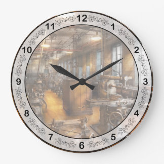 Machinist - Industrious Society Large Clock
