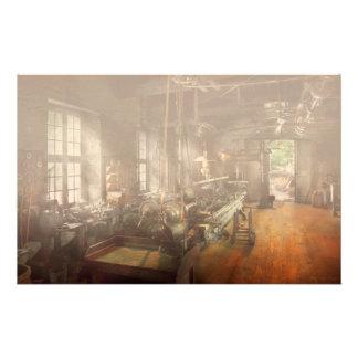 Machinist - Lathe - A long lathe Custom Stationery