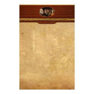 Machinist - Lathe - A long lathe Personalised Stationery