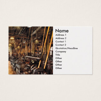Machinist - Machine Shop Circa 1900's Business Card