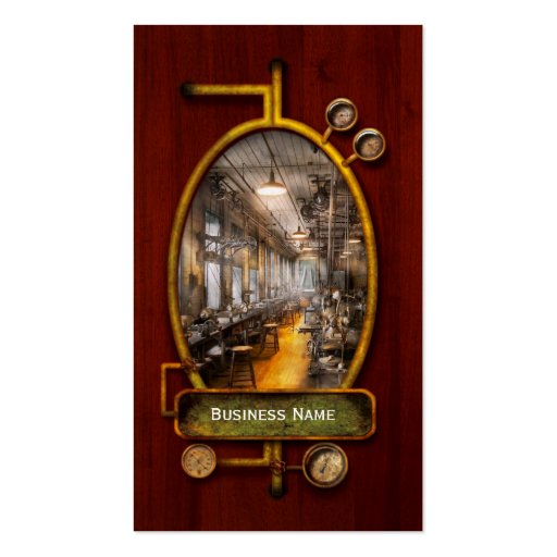 Machinist - Santa's old workshop Business Card Templates