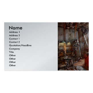 Machinist - The modern workshop Business Cards