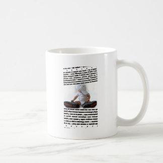 macho basic white mug