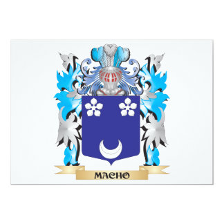 Macho Coat of Arms - Family Crest 13 Cm X 18 Cm Invitation Card