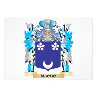 Macho Coat of Arms - Family Crest Invite
