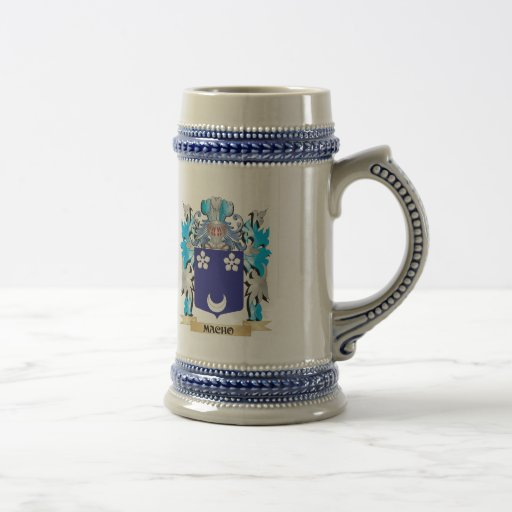 Macho Coat of Arms - Family Crest Coffee Mug