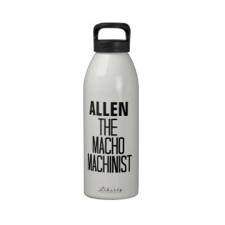 Macho Machinist Reusable Water Bottle