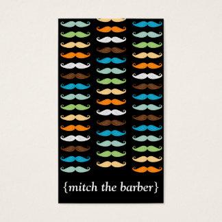 Macho Mustaches Vertical Bizcard Business Card