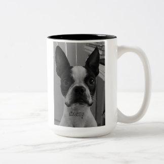 Macho the Boston Terrier coffee Mug