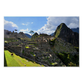 Machu Picchu Afternoon Poster