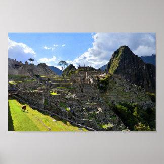 Machu Picchu Afternoon Poster