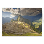 Machu Picchu, ancient ruins, UNESCO world 2 Greeting Cards