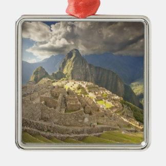 Machu Picchu, ancient ruins, UNESCO world 2 Christmas Ornament