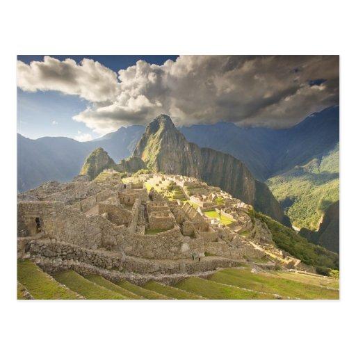 Machu Picchu, ancient ruins, UNESCO world 2 Post Cards