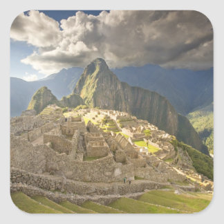Machu Picchu, ancient ruins, UNESCO world 2 Square Sticker