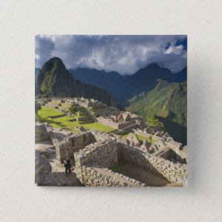Machu Picchu, ancient ruins, UNESCO world 3 15 Cm Square Badge