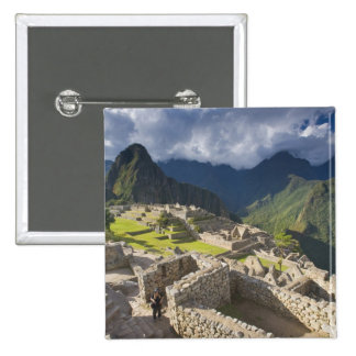 Machu Picchu, ancient ruins, UNESCO world 3 15 Cm Square Badge