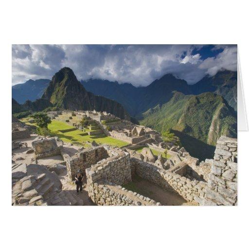 Machu Picchu, ancient ruins, UNESCO world 3 Cards