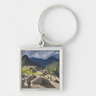 Machu Picchu, ancient ruins, UNESCO world 3 Key Chain