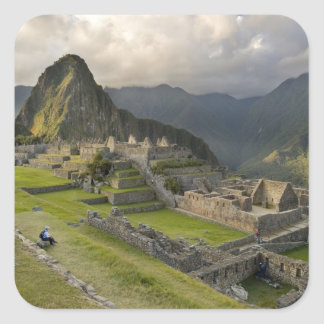 Machu Picchu, ancient ruins, UNESCO world Square Sticker