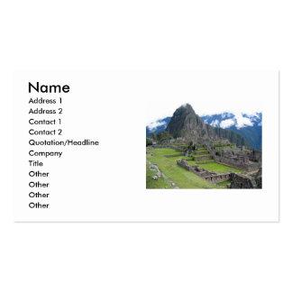 Machu Picchu Business Cards