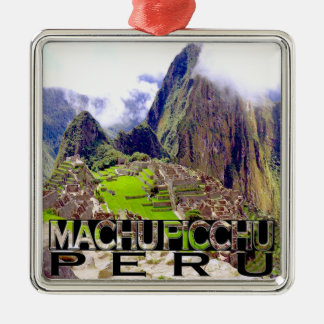 Machu Picchu Christmas Ornament