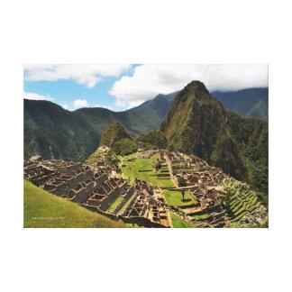 Machu Picchu Inca Citadel Canvas Print