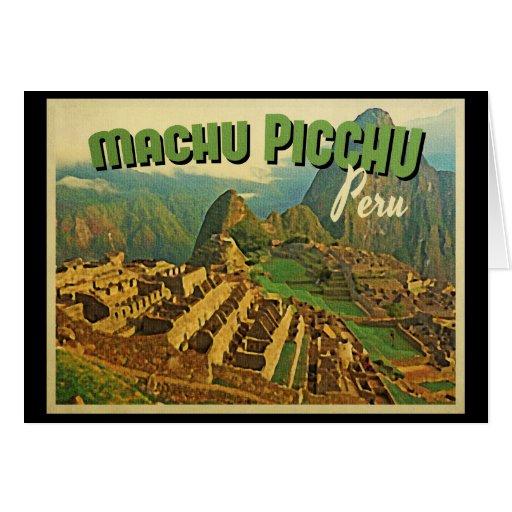 Machu Picchu Peru Greeting Cards