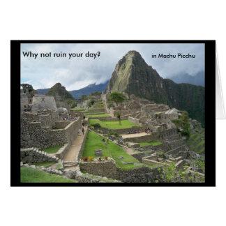 Machu Picchu, Peru Card