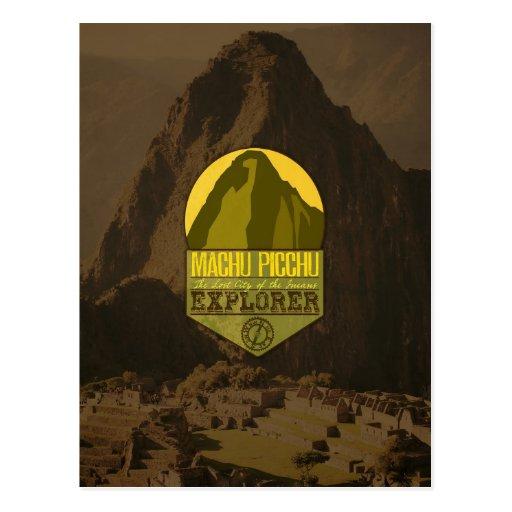 Machu Picchu Peru Explorer Travel Postcard