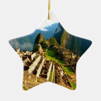 machu picchu peru inca christmas ornament