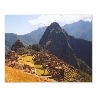 Machu Picchu Peru - Machu Picchu Ruins Sunrise 11 Cm X 14 Cm Invitation Card