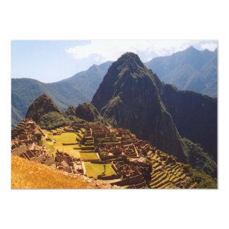 Machu Picchu Peru - Machu Picchu Ruins Sunrise 11 Cm X 16 Cm Invitation Card